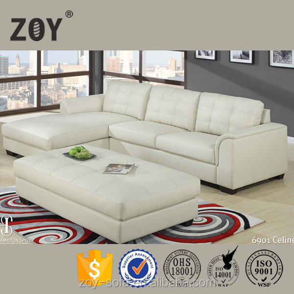 Modern sectional corner leather/fabric sofa furniture, home furniture 96090