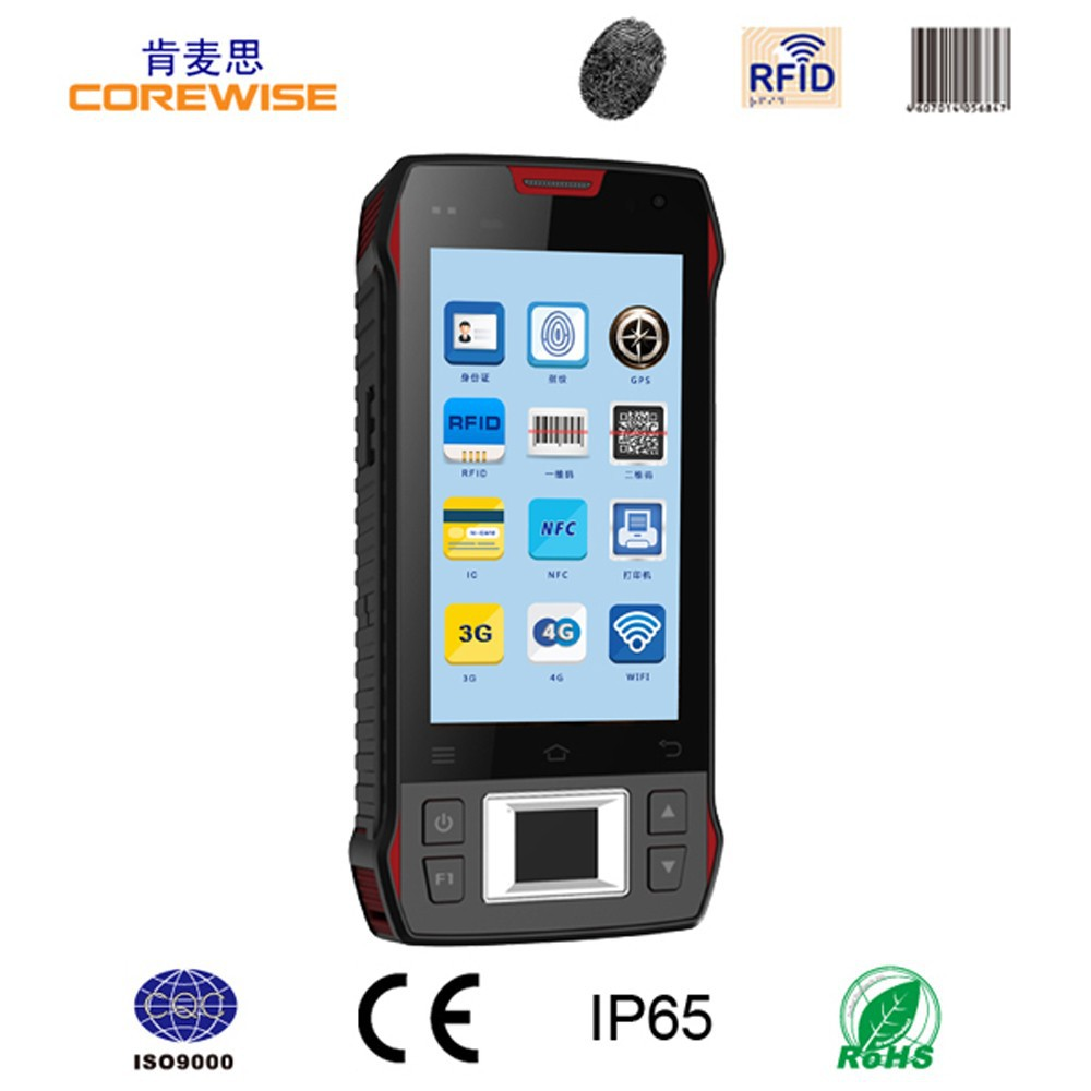 rugged Android quad core access control card reader wifi barocde scanner fingerprint cheap rfid reader