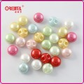 colorful round dye imitation pearl buttons