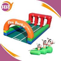 Sport Game Inflatable Running Horse Race Game