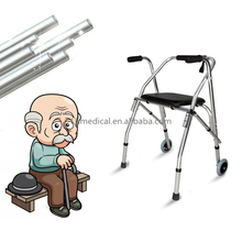 Aluminum material foldable different types of walker