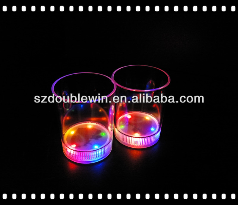 plastic beer cup color change led flashing cold light up beer cup