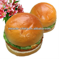 Artificial food PU hamburger for display