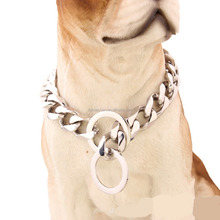 High quality pet jewelry 18k gold/white gold stainless steel dog collar big dog harness chain