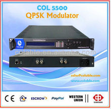 Radio and broadcasting equipment,DVB-S QPSK Modulator,ASI to RF single modulator COL5500