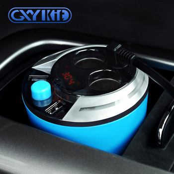 GXYKIT The direct factory car cigarette lighter socket and dual port usb car charger adapter cup model for phone