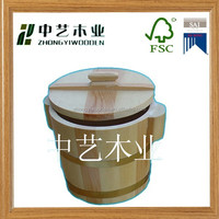 hot selling 2015 new design FSC&SA8000 wooden bucket with lids with competive price