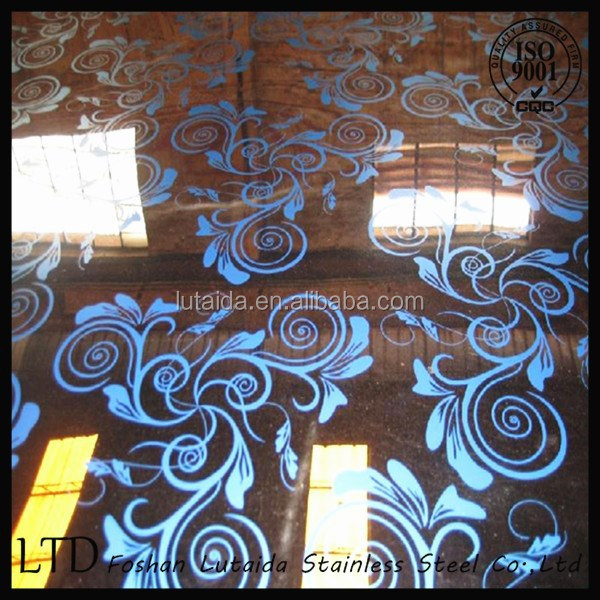 304 304L 316L Etching Stainless Steel Sheet for decoration
