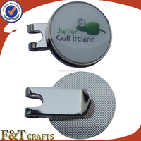 Custom plating nickle print logo epoxy golf marker/golf ball marker/custom divot tool with golf ball marker