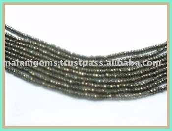 Pyrite Roundel Facet Beads