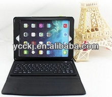 2014 new item china ! fashion design folding leather case cover stand + wireless bluetooth keyboard for ipad 5 case stand