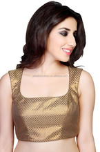 India Pakistan ethnic clothing gold fancy saree blouse designs