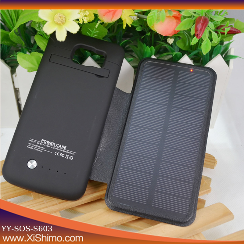 Designer hotly selling solar power cell phone case for samsung s6 case