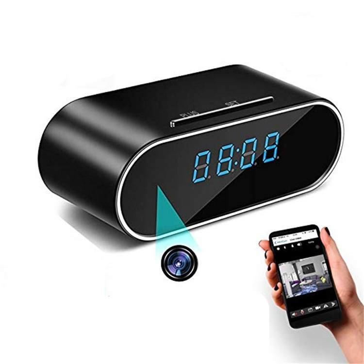 Multipurpose expensive digital projector led alarm clock with spy camera wifi clock inside