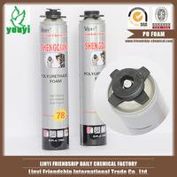 Construction gap-filling PU foam/silicone sealant