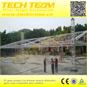 Roof truss lift tower roof truss booth exhibition display