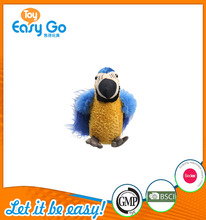 good sale high quality customized production cute bright blue parrot soft toy plush toy
