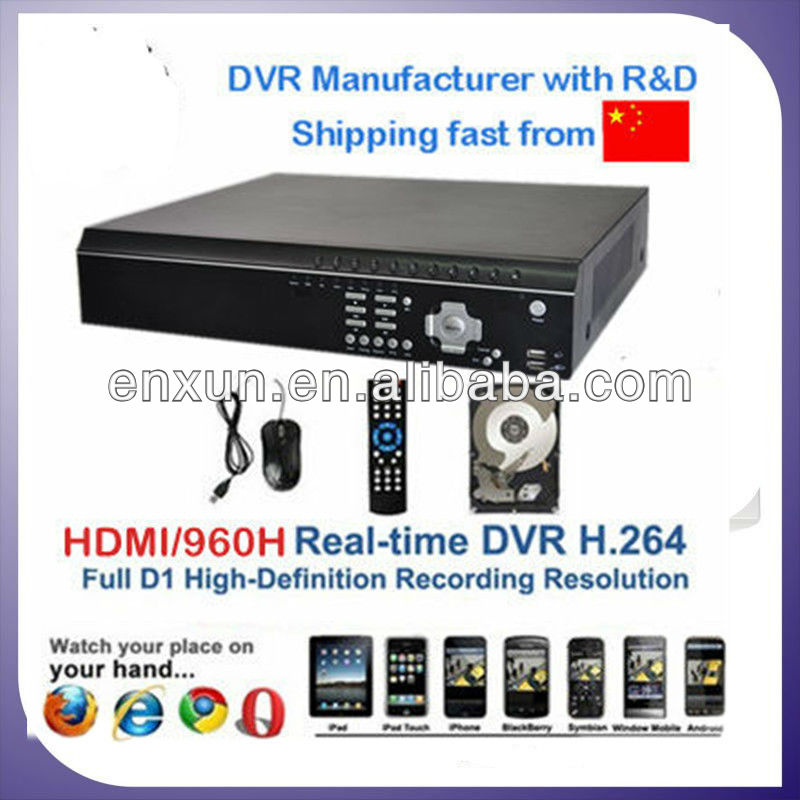 H.264 promotional 4/8/16CH digital video recorder dvr network h264 4ch dvr free client software h.264 dvr