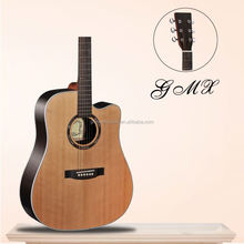 Nature color new arrival unique design 3/4 size professional acoustic guitar