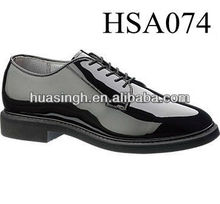shining patent leather non-marking military office shoes executive shoes for police