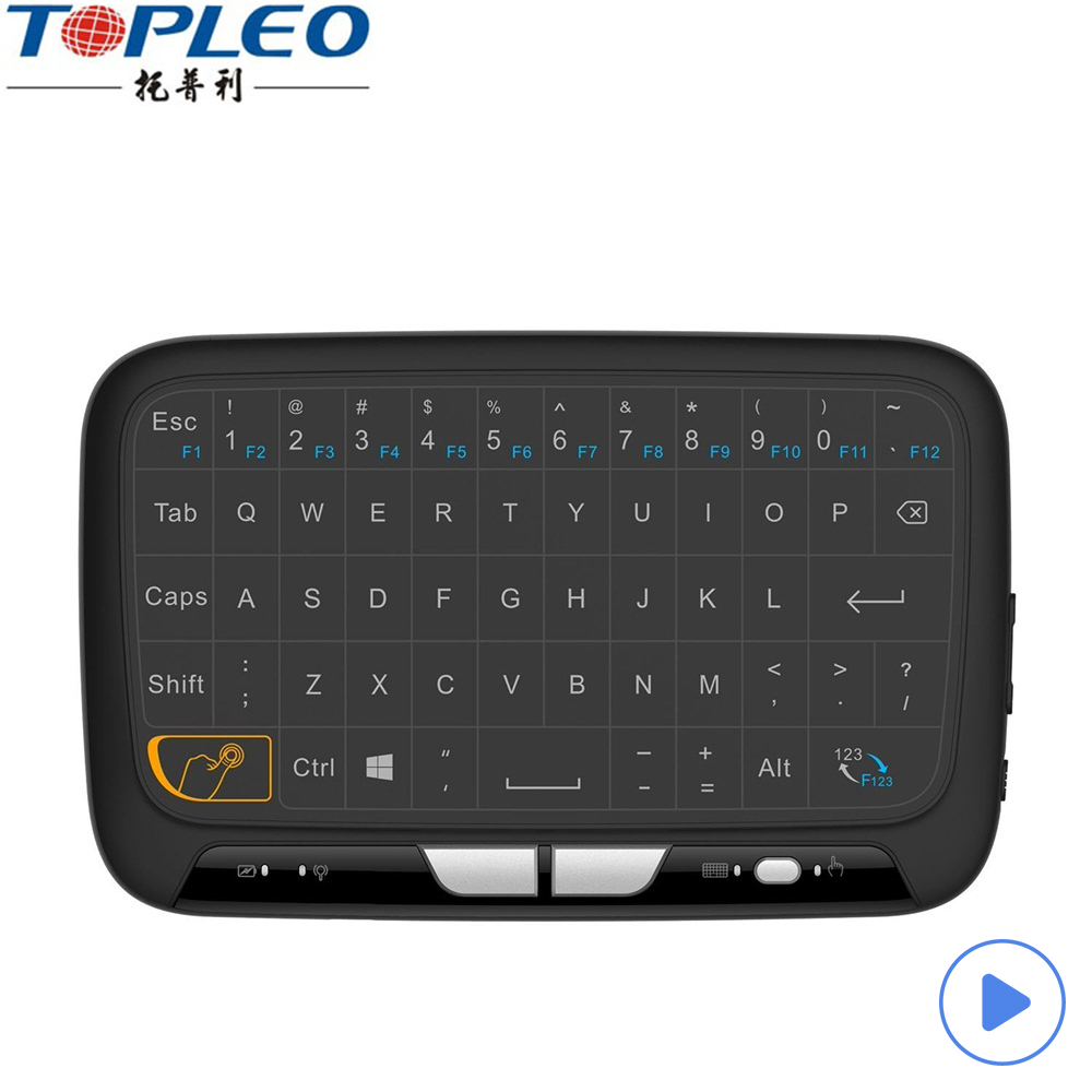 2017 Mini H18 keyboard 2.4g touchpad mini keyboard H18 2.4g wireless remote control PC smart TV notebooks From Topleo