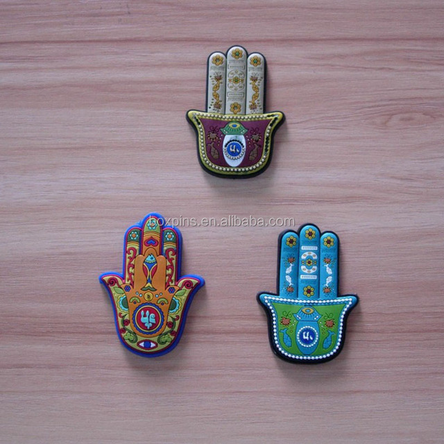 3D PVC Jewish travelers prayer lucky Hamsa Evil Eye fridge magnet