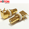Free Samples Gold Plated Four Pins RCA PAL Female Jack Right Angle 90 Degree Connector For PCB