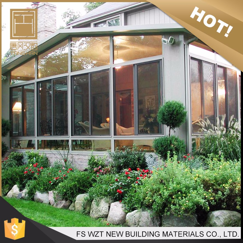 New design UV resistant heat insulation glass sunroom