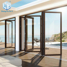 Aluminum Alloy frame lowe glazed folding door