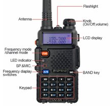Baofeng uv5r walkie talkie made in china handheld dual band antenna handy talkie