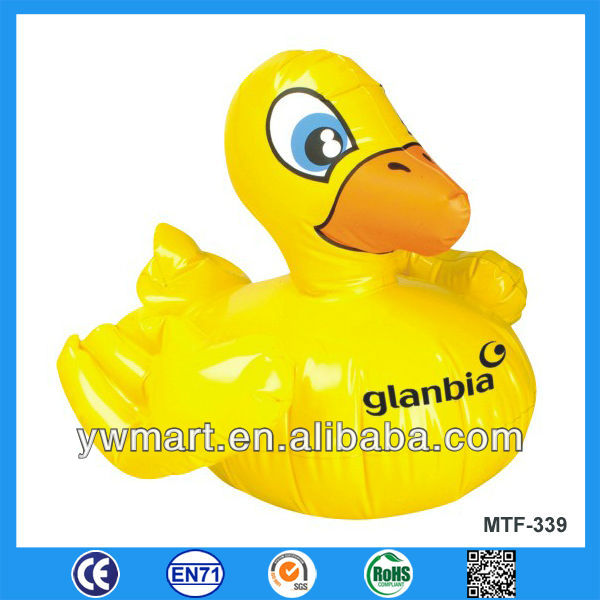 Customized inflatable duck toy, PVC inflatable yellow duck for promotion
