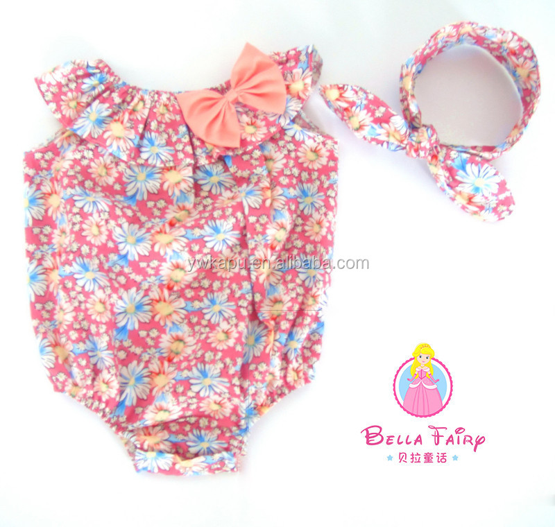 dave and bella baby clothing baby high quality clothing floral baby romper newborn infant romper