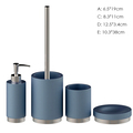Acid blue 4PCS High quality resin bathroom accessories set from chinese new products
