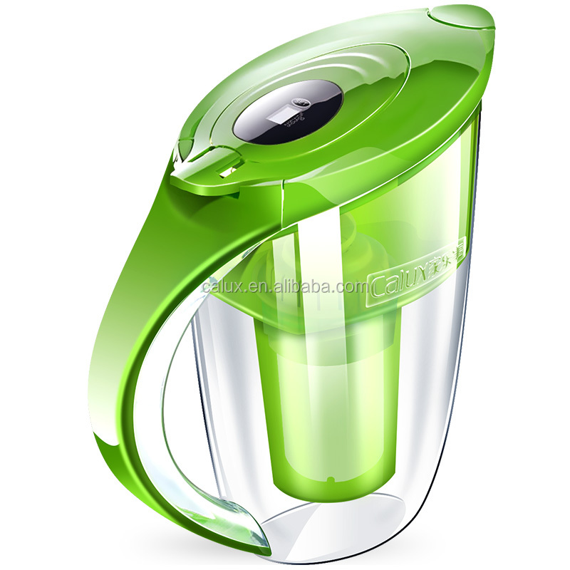2017 Premium Alkaline Mineral Drinking Water pitcher Ionizer jugs-3.5 L BPA free Alkalizer Machine(Green)