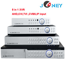 8 channel XVR support AHD/CVI/TVI/CVBS/IP Cameras input