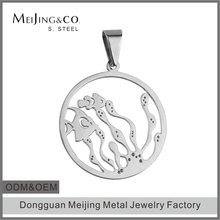 Cheap Wholesale 316L Stainless Steel Fish Pendant Jewelry