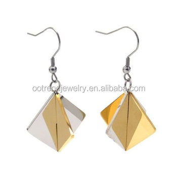Golden spade diamond shape earring lifts