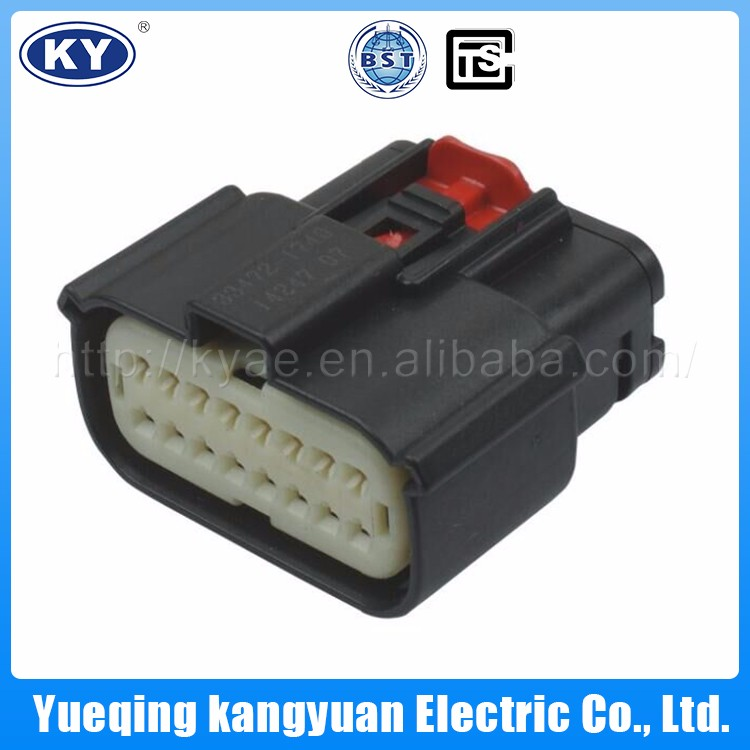 KY wideband auto connector for renault,pbt gf30 auto connector,6 pin auto connector