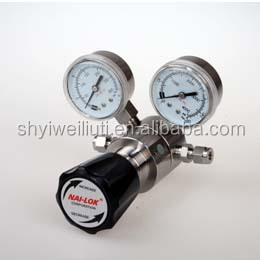 low pressure 316L oxygen pressure regulator for gas cylinder with relief valve