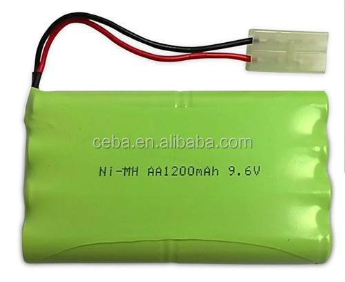 1300mah 9.6v nimh rechargeable battery pack aa