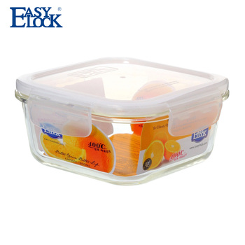 Airtight glass cheese container