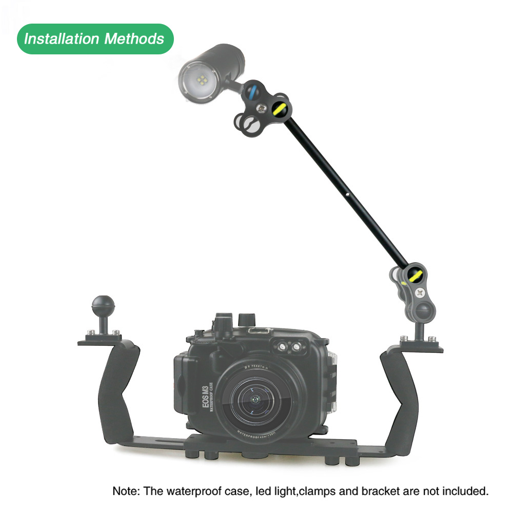 2019 New diving photography accessories multi-function double ball mount base