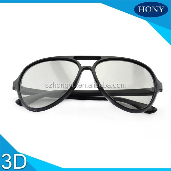 PlPlastic Thicken Lens 3D Linear Polarized Glasses For Imax Cinema Use