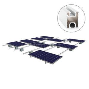 Aluminum mounting structure for solar panel, solar panel bracket