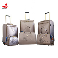 Alibaba China PU Material Travel Trolley Luggage
