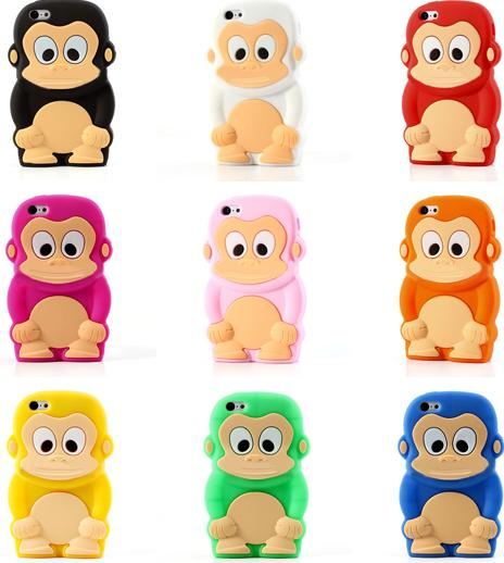 Cute 3D Monkey Silicone Case for iPhone 5c