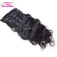 Ideal good feedback direct price raw virgin unprocessed spiral curl hair clip in