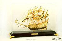 shinning squama shaped sailing ship model