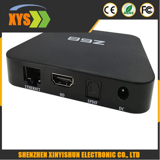 Z68 TV Box Android 5.1 OS RK3368 4K UHD Smart TV Box 2GB+16GB Dual Band Wifi Bluetooth 4.0 H.265 KODI Pre-installed