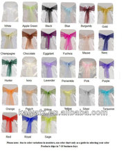 WHOLESALE CHEAP ORGANZA WEDDING CHAIR COVER SASH